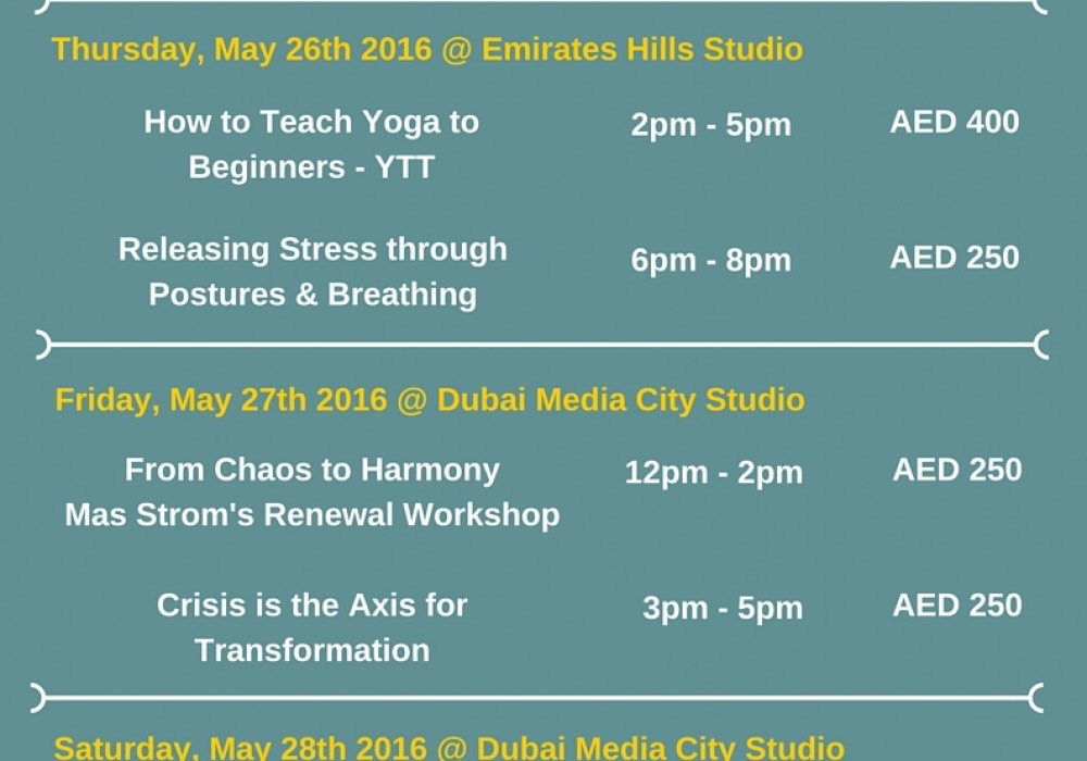 MAX STROM in DUBAI (26th –  28th May 2016)